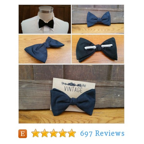 Vintage Black Clip On Ormond Bow Tie Great #etsy @maliasmark  #etsy #PromoteEtsy #PictureVideo @SharePicVideo