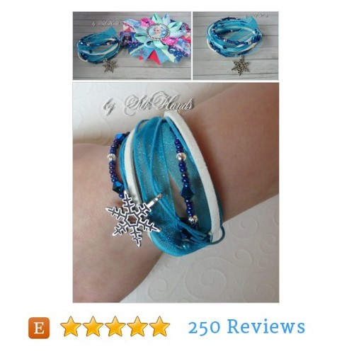 Frozen Hair Bow and Frozen bracelet Set - #etsy @bysilkhands  #etsy #PromoteEtsy #PictureVideo @SharePicVideo