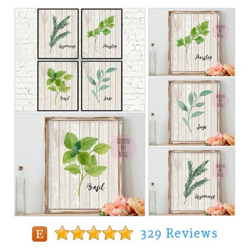 Kitchen art, herb print, kitchen decor, #etsy @adorn_mywall  #etsy #PromoteEtsy #PictureVideo @SharePicVideo