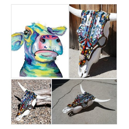 Mosaic Cow Skull, Western Decor, Steer Skull, Stained Glass Cow Skull, Cowboy Art, Cow Skull, Native American Decor, South Western Skull Art #etsyspecialt #integritytt #SpecialTGIF #Specialtoo         @InfamousRTs @Demented_RTs #etsy #PromoteEtsy #PictureVideo @SharePicVideo