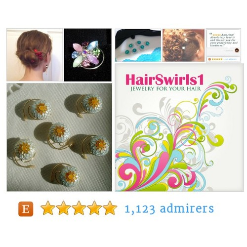 #JEWELRY FOR YOUR HAIR by HairSwirls1 Etsy shop Use code NEWYEAR10 for a discount #etsy #PromoteEtsy #PictureVideo @SharePicVideo