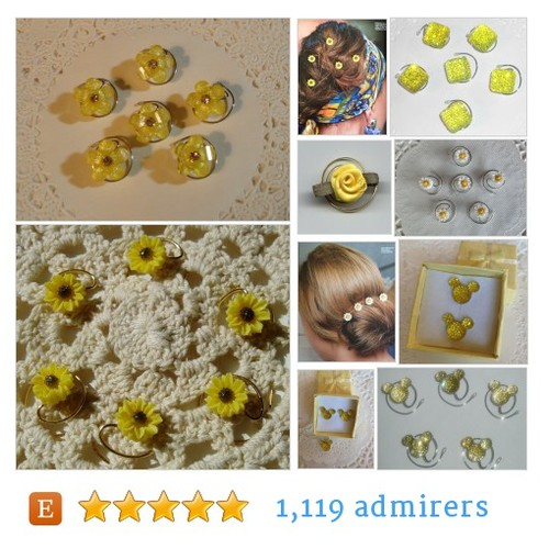 JEWELRY FOR YOUR HAIR by HairSwirls1 Etsy shop  Sunny #Yellow #HairSpins for your #Hairdo #etsy #PromoteEtsy #PictureVideo @SharePicVideo