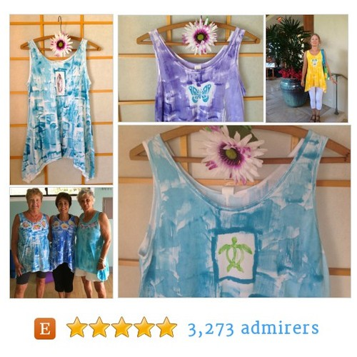 Perfect Spring Fashion HandPainted Cotton Tunic Legging Set #etsyfashion #etsymntt #integritytt @Relay_RTs @HyperRTs #etsy #PromoteEtsy #PictureVideo @SharePicVideo