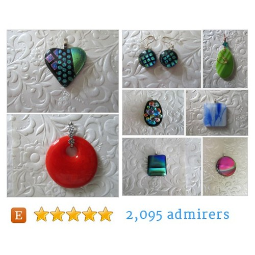 Dichroic Glass Pendants, Fused Glass, Stained Glass by feesfusions Etsy shop  #etsy #PromoteEtsy #PictureVideo @SharePicVideo