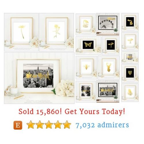 PRINTS - Gold Etsy shop #printsgold #etsy @willowandolive  #etsy #PromoteEtsy #PictureVideo @SharePicVideo