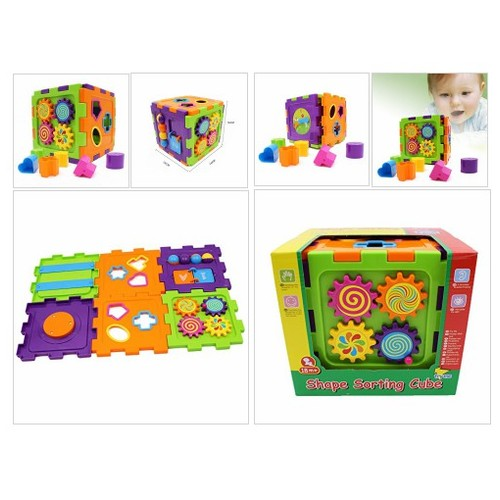 Wishtime Activity Gear Puzzle Baby's First Blocks Shape Sorting Cube: Toys & Games #socialselling #PromoteStore #PictureVideo @SharePicVideo