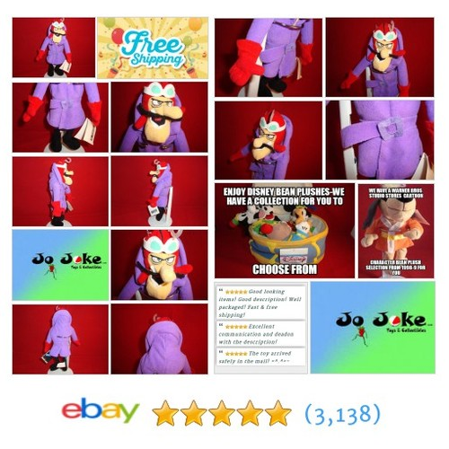 WARNER BROS STUDIO STORE-DICK DASTARDLY-BEAN PLUSH-1999-WACKY RACERS-NEW/TAGS | eBay #WARNERBROSSTUDIOSTORE #etsy #PromoteEbay #PictureVideo @SharePicVideo