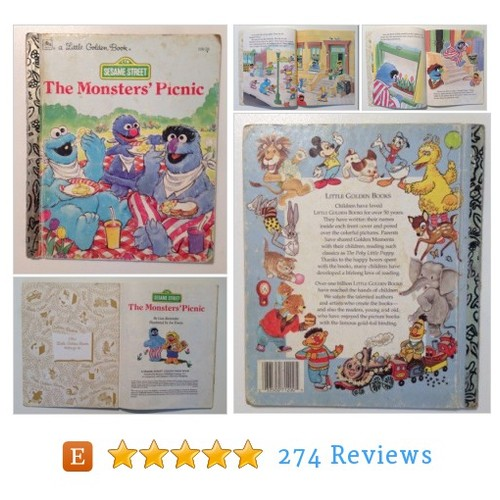 The Monster's Picnic Sesame Street Little #etsy @youth_reclaim https://www.SharePicVideo.com/?ref=PostPicVideoToTwitter-youth_reclaim #etsy #PromoteEtsy #PictureVideo @SharePicVideo