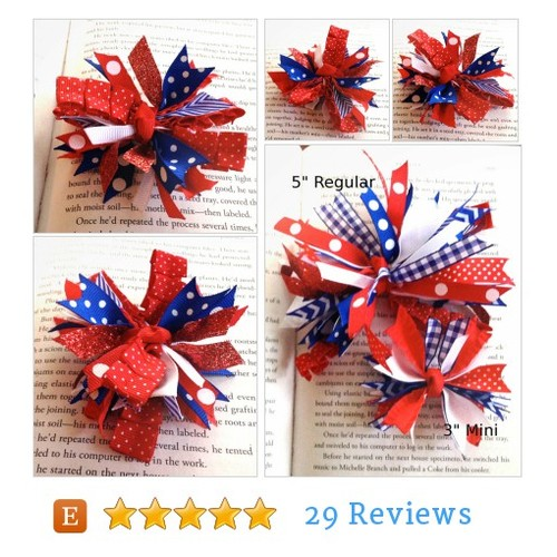Mini Red, White and Blue Spike Hair Bow @laleepops82  #etsy #PromoteEtsy #PictureVideo @SharePicVideo