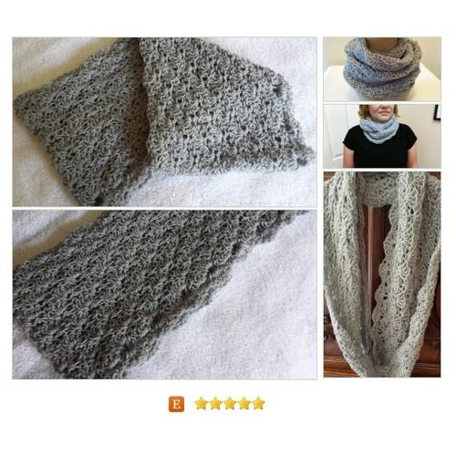#Scarf Infinity Cowl Circle crocheted handmade #Wrap #Accessory #etsy #PromoteEtsy #PictureVideo @SharePicVideo