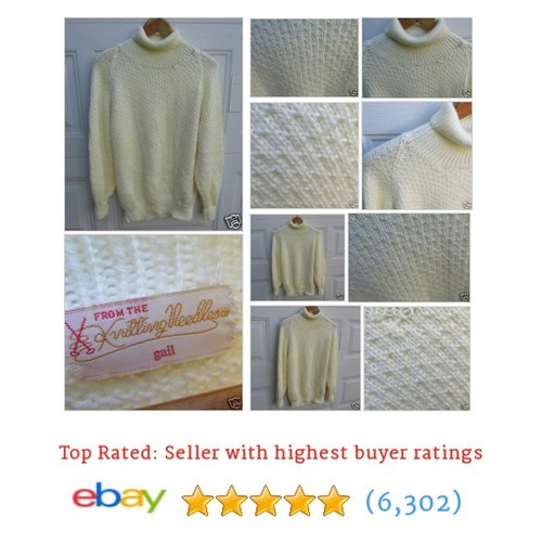 Handmade Sweater Turtleneck Pullover Top Iran Soft Hand Knitted #ebay @rhosfashionfind  #etsy #PromoteEbay #PictureVideo @SharePicVideo