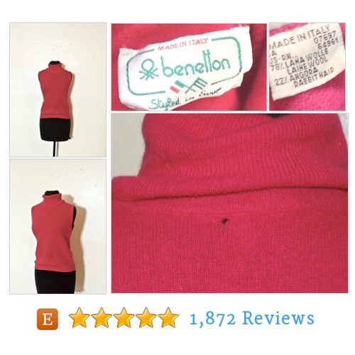 vintage Benetton #sweater top - 1960s #etsy @mkmackvintage  #etsy #PromoteEtsy #PictureVideo @SharePicVideo