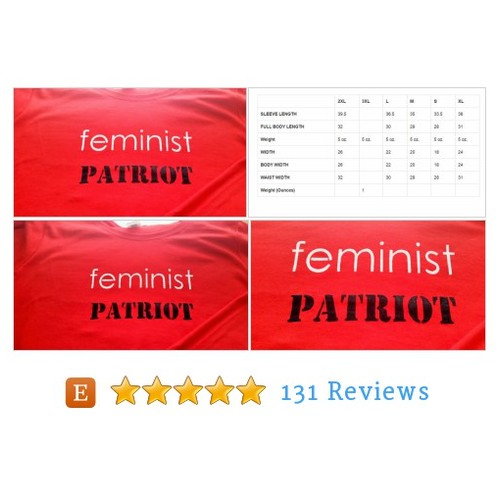 Feminist Patriot T-shirt Screen Printed #etsy @grainofruth https://www.SharePicVideo.com/?ref=PostPicVideoToTwitter-grainofruth #etsy #PromoteEtsy #PictureVideo @SharePicVideo