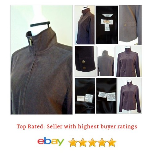 Talbots Stretch 10 Chocolate Brown Soft Spring Weight Bronze tone snaps & zipper | eBay #Coat #Talbot #Jacket #etsy #PromoteEbay #PictureVideo @SharePicVideo