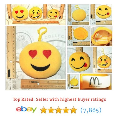 3 LOT EMOTICON EMOJI GENERIC & MCDONALD EMOJI TEE HEE HEE PLUSH #ebay @jenstadcollec  #etsy #PromoteEbay #PictureVideo @SharePicVideo