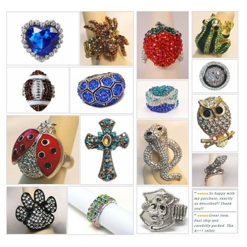 A Ring For Every Finger Collection is now available at Shar's Boutique! #Ring #StretchRing #ebay #PromoteEbay #PictureVideo @SharePicVideo