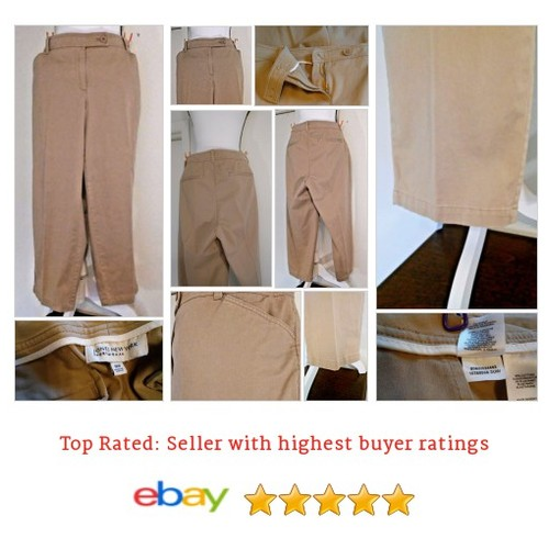 Jones New York Size 18W Stretch Sport Khaki Cropped #Capri Women's Spring Fridays | eBay #Pant #Cropped #etsy #PromoteEbay #PictureVideo @SharePicVideo