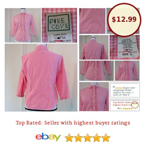 #PineCove Size 6 #Gingham pink 100% Cotton #rodeo #Top #Western #farmfashion #countrygirl #farmersdaughter #ebay #etsy #PromoteEbay #PictureVideo @SharePicVideo