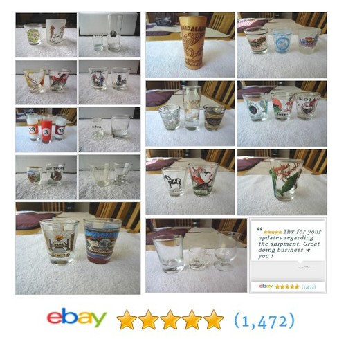 Shot Glasses in Foster Web Store ! #ShotGlasses #Collectables #Vintage #ebay #PromoteEbay #PictureVideo @SharePicVideo