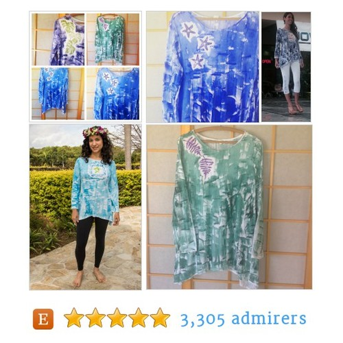 Hand painted Tunic #mothersday #etsyhandmade #etsymntt @DNR_Crew @HyperRT #etsy #PromoteEtsy #PictureVideo @SharePicVideo