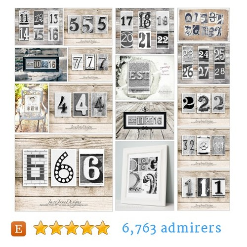 Numbers & Date Prints #etsy shop #number #dateprint @javajanedesigns  #etsy #PromoteEtsy #PictureVideo @SharePicVideo