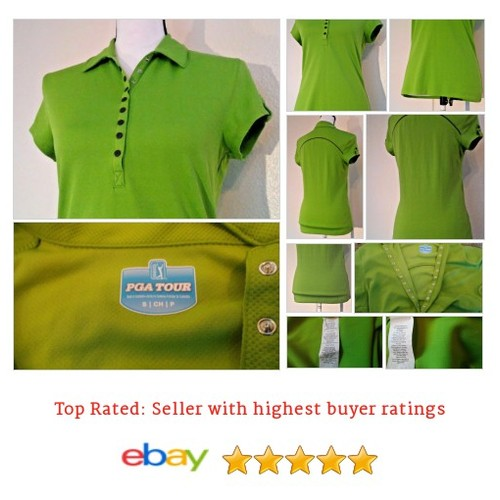 PGA Golf Polo #Shirt Womens TOUR DRY M Medium UPF Cap Sleeves Green | eBay #Top #Shoe #etsy #PromoteEbay #PictureVideo @SharePicVideo