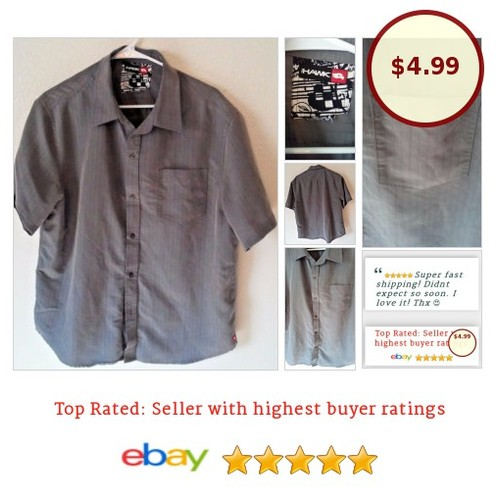 #skater #skatingShirt Gray Button Size Medium Wrinkle Resistant #FathersDay | eBay #TonyHawk #ButtonFront  #etsy #PromoteEbay #PictureVideo @SharePicVideo