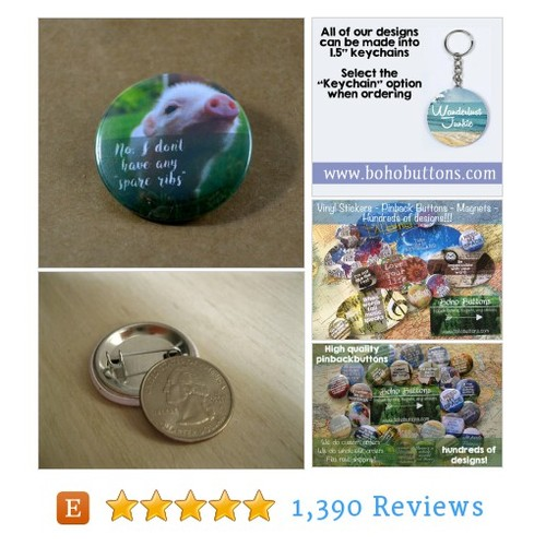 "Pig Button Piglet Pin ""No, I don't have any #etsy #PromoteEtsy #PictureVideo @SharePicVideo"