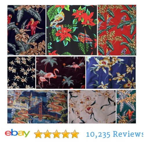 Which men's #Hawaiian shirt is your favorite? It's so hard to chose! Parrots? #Flamingos? #ebay #PromoteEbay #PictureVideo @SharePicVideo