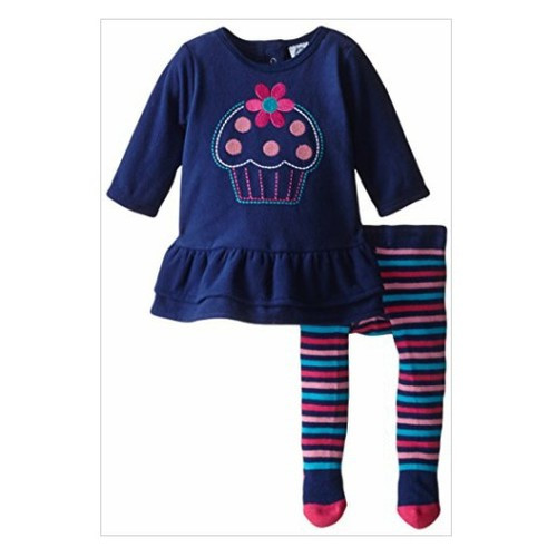 Gerber#Girls Newborn 2 Piece Embroidered Micro Fleece Dress with Tights Cupcake, 6-9 Months  #socialselling #PromoteStore #PictureVideo @SharePicVideo