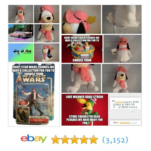 "WARNER BROS STUDIO STORE-DUM-DUM-8""-BEAN PLUSH- SITTING-HANNA-BARBERA-NEW/TAGS 