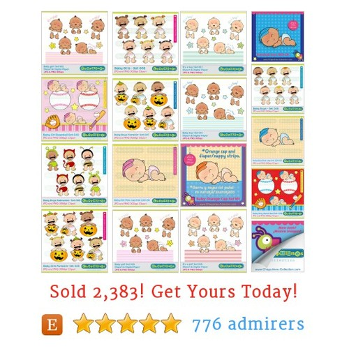 Clipart Babies Etsy shop #etsy @chapulines_c  #etsy #PromoteEtsy #PictureVideo @SharePicVideo