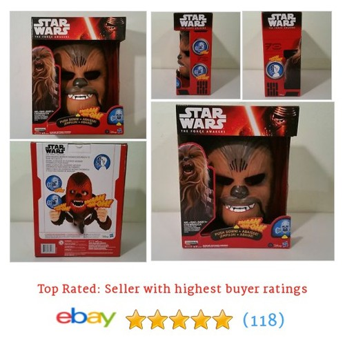 STAR WARS THE FORCE AWAKENS CHEWBACCA ELECTRONIC TALKING MASK FREE #ebay @retailraiders  #etsy #PromoteEbay #PictureVideo @SharePicVideo