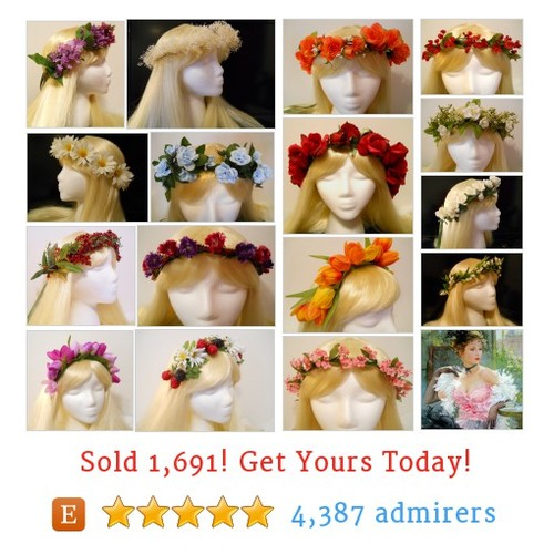 Flower Crowns Etsy shop #etsy @michelemyfairy  #etsy #PromoteEtsy #PictureVideo @SharePicVideo