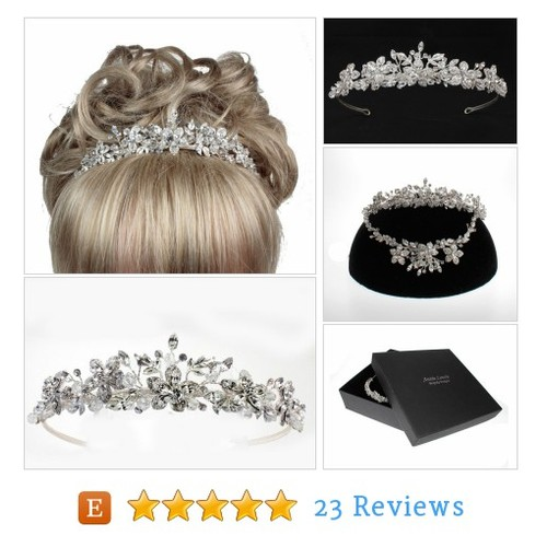Silver Plate Tiara,Tiaras & Headresses, #etsy @albridal  #etsy #PromoteEtsy #PictureVideo @SharePicVideo