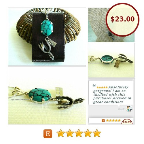 #Turquoise #Gemstone #Pendant #SterlingSilver #HorseSpurCharm #Necklace #Jewelry #SylCameoJewelsStore #CharmNecklace #SpecialT #TintegrityT #specialtoo @TopsRTs #etsyspecialt  #etsy #PromoteEtsy #PictureVideo @SharePicVideo