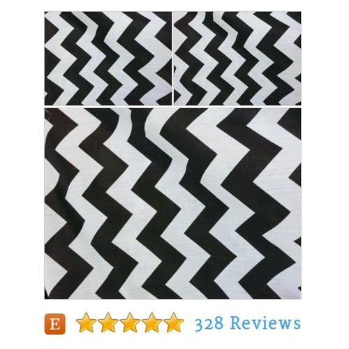 Zig Zag Chevron Polycotton Fabric - Black #etsy @kingdomfabric  #etsy #PromoteEtsy #PictureVideo @SharePicVideo