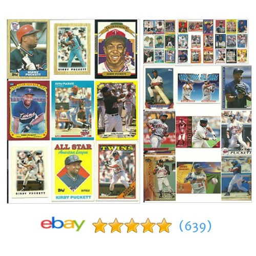 Huge 45 different KIRBY PUCKETT cards lot 1987 - 1995 career Twin | #ebay @ronglass11  #etsy #PromoteEbay #PictureVideo @SharePicVideo
