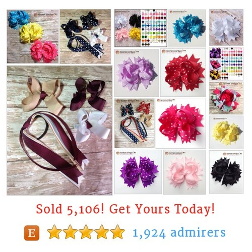 Solid & Dots Hair Bows Etsy shop #solid #dotshairbow #etsy @pheepheebowtiq  #etsy #PromoteEtsy #PictureVideo @SharePicVideo