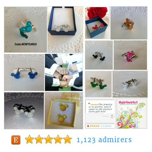 Cuff Links - JEWELRY FOR YOUR HAIR by HairSwirls1 Etsy shop #wedding #cufflinks for that #Disney themed Wedding #etsy #PromoteEtsy #PictureVideo @SharePicVideo