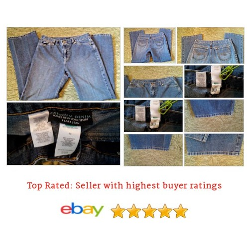 Jeans Size 10 #Medium Wash Inseam 30 | @eBay #Jean #Flare #JonesNewYork #etsy #PromoteEbay #PictureVideo @SharePicVideo