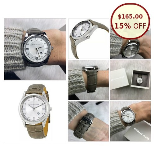 Michael Kors silver dial gray leather band @pepperjade_com https://www.SharePicVideo.com/?ref=PostPicVideoToTwitter-pepperjade_com #socialselling #PromoteStore #PictureVideo @SharePicVideo