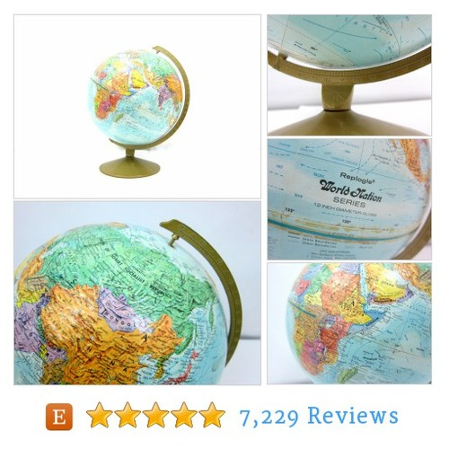 Vintage Blue Globe Replogle World Nation #etsy @dirtybirdies  #etsy #PromoteEtsy #PictureVideo @SharePicVideo
