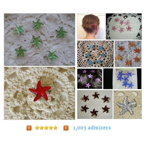 #Starfish for #Summer#Wedding #All from JEWELRY FOR YOUR HAIR by HairSwirls1 Etsy shop #etsy #PromoteEtsy #PictureVideo @SharePicVideo