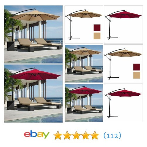 Best Choice Products Offset 10' Hanging Outdoor Market New Tan #ebay @healthyfitdan  #etsy #PromoteEbay #PictureVideo @SharePicVideo
