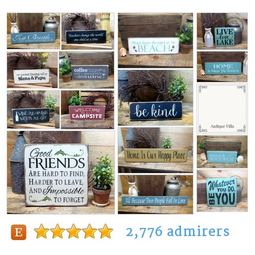 Hand Stenciled Wooden Signs by Woodticks Etsy shop @WoodticksSigns  #etsy #PromoteEtsy #PictureVideo @SharePicVideo