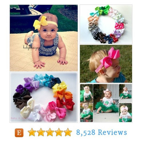 Baby Bow Headband. Newborn Bow. Baby Girl #etsy #PromoteEtsy #PictureVideo @SharePicVideo