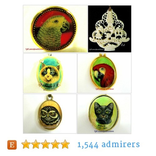 Vintage Jewelry, Hand Painted Cameos by SylCameoJewelsStore Etsy shop  #IntegrityTT #TIntegrityT #EtsySpecialT #etsy #PromoteEtsy #PictureVideo @SharePicVideo