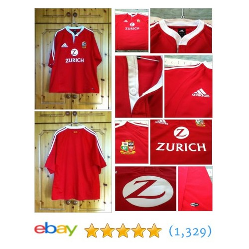 British and Irish Lions Rugby Union Home Jersey #sellonebay #ebay @ekb009kyle  #etsy #PromoteEbay #PictureVideo @SharePicVideo