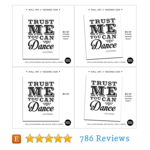 "Trust Me You Can Dance - Alcohol 8x10"" Wall #etsy @merrilydesigns  #etsy #PromoteEtsy #PictureVideo @SharePicVideo"